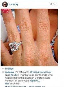 Barbie Blank Sheldon Souray engagement pic
