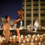 Justin Tucker Amanda Bass engagement photo