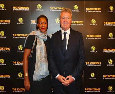 Guus Hiddink with beautiful, Wife Liesbeth Pinas
