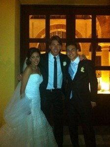 Jesus Navas alejandra Moral wedding