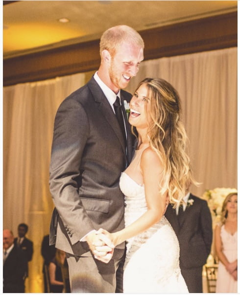 Mike_Glennon_wife_Jessica_Wetherill_Glennon__wedding report mike glennon felt cheated on when bears drafted mitch