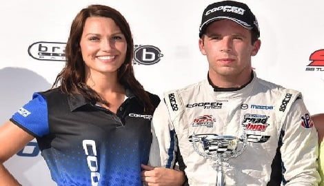 Who is Indy Racer Ed Jones' girlfriend?