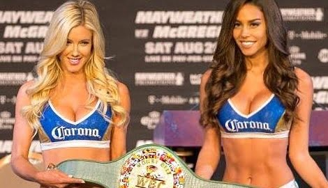 Mayweather vs. McGregor Ring Girls Jessica Harbour & Kyra Keli