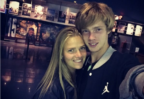 Andrey Rublev's Girlfriend Anastasija Homutova