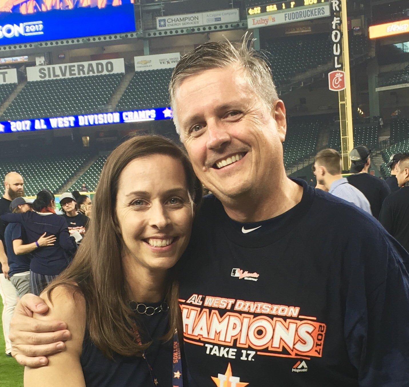 Astros GM Jeff Luhnow's Wife Gina Luhnow