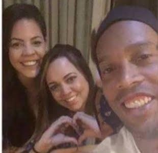 Ronaldinho's Wives Priscilla Coelho & Beatriz Souza