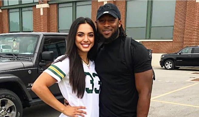 Aaron Jones' Girlfriend Crystal Molina
