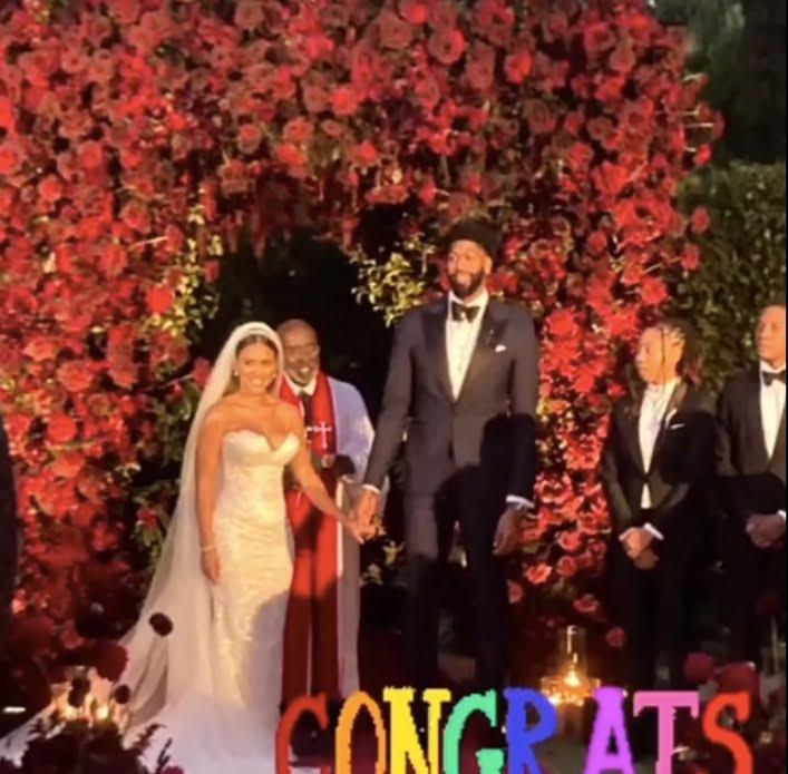 Anthony Davis Marlen P wedding