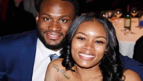 Shauntay Skanes is the lovely wife of NFL player, Latavius Murray -the running back who currently plays with the New Orleans Saints.